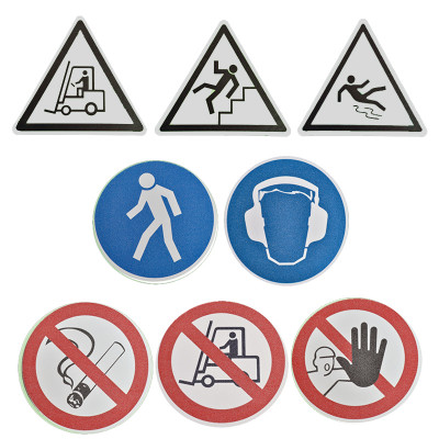 Anti Slip Glow In The Dark Floor Marking Signs