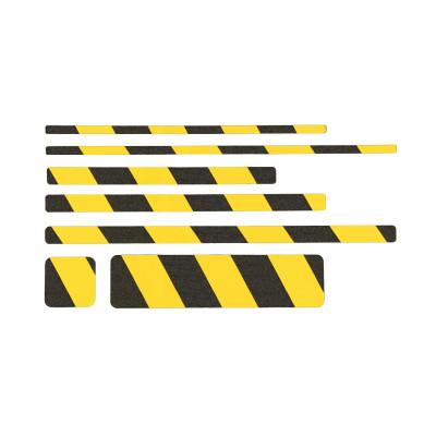 Non Slip Black/Yellow Hazard Warning Floor Sheets (10 Pack)