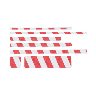 Non Slip Red/White Hazard Warning Floor Sheets (10 Pack)