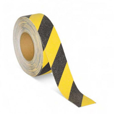 50mm Black and Yellow Floor Marking Tape