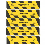 Hazard Warning yellow/black with Text (Sheet)