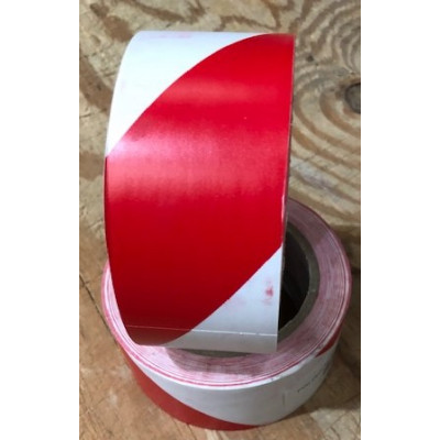 50mm Red and White Floor Marking Tape