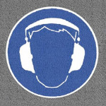 Hearing Protection Logo Mat