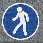 For Pedestrians Logo Mat
